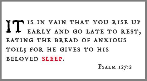 psalm 127.2